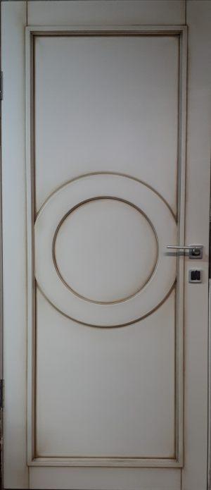 Межкомнатная дверь в профиле массив (эмаль с патиной) Чебоксары