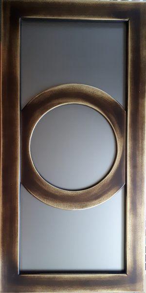 Фасад с фигурной филенкой эмаль+золотая патина Чебоксары