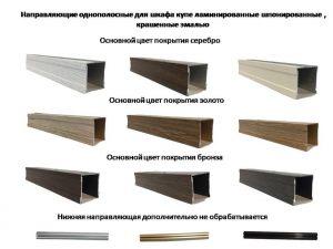 Направляющие однопосные для шкафа купе ламинированные, шпонированные, крашенные эмалью Чебоксары