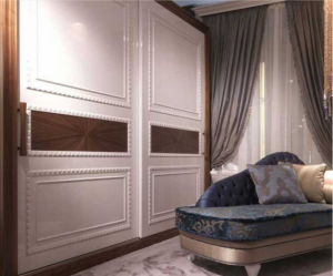 Шкаф купе с декоративным молдингом по периметру Чебоксары