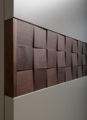 Вставка в двери с накладными квадратами шпон Чебоксары